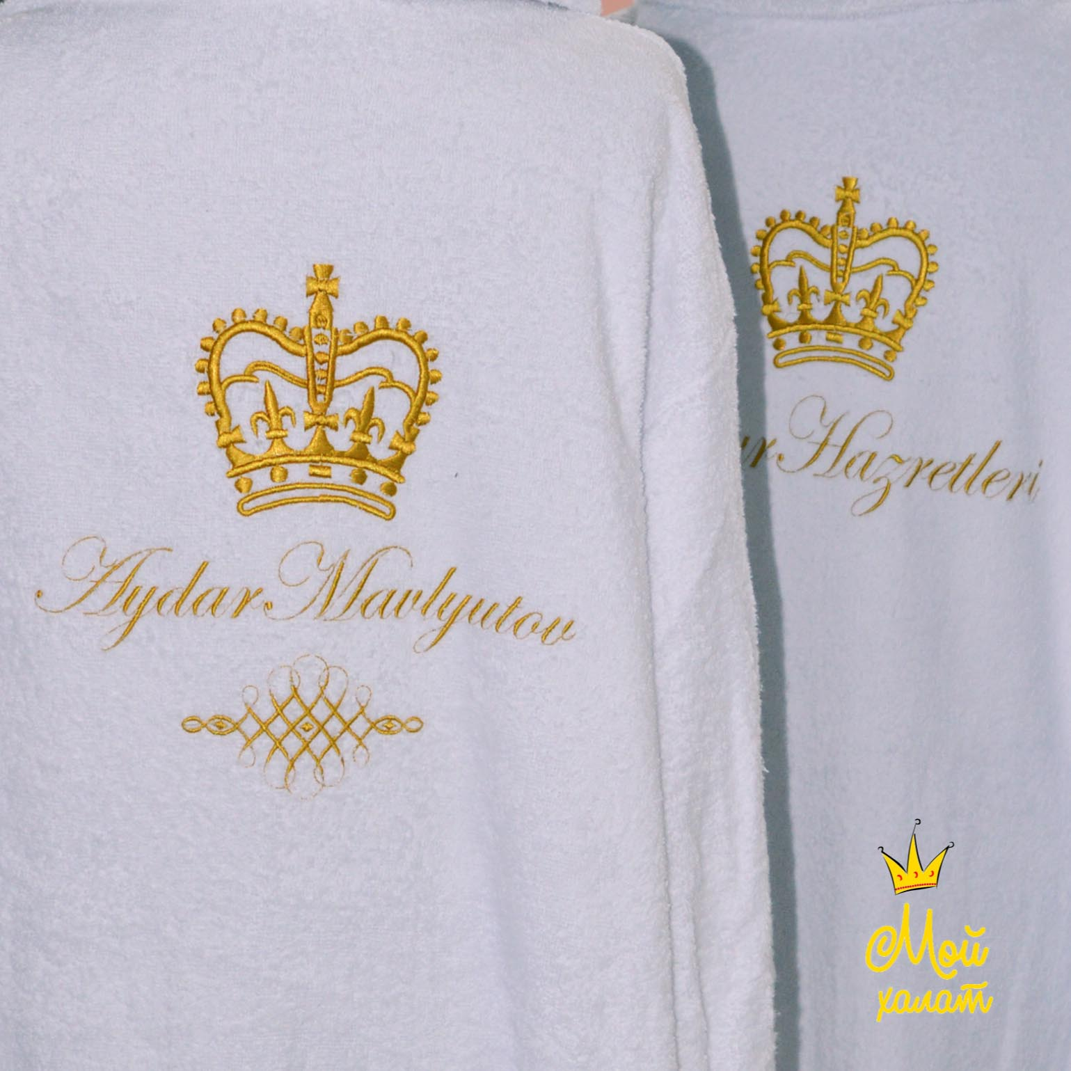 Заказать халат с именной вышивкой украина 60