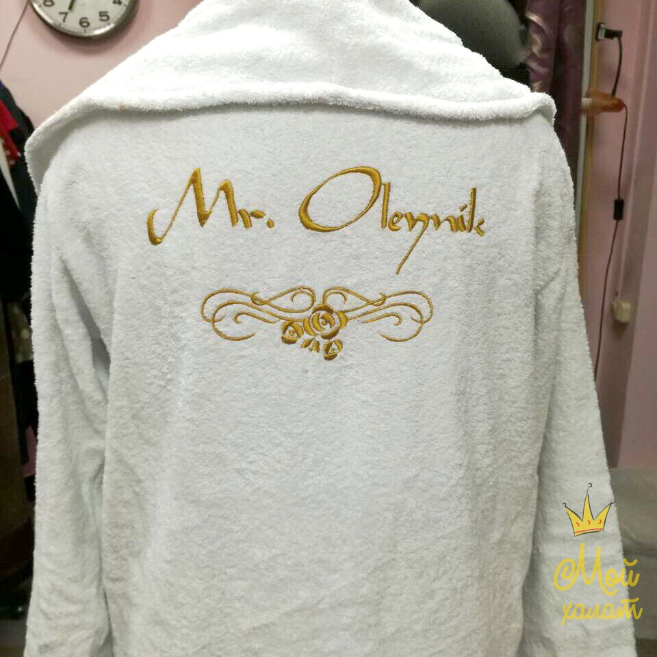 Заказать халат с именной вышивкой украина 58
